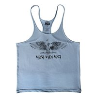 All'ingrosso- ZYZZ Fitness Uomini Singlet Bodybuilding Gymwear Tank Top Uomini Golds Stringer Muscle Sleeveless Regata Masculina Undershirt Vest