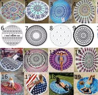 Wholesale Wholesale Yoga Mats - INS 32Designs Choose Free Round Donut Pizza Hamburger Towel Beach Cover Ups Sexy Beach Towel Chiffon Swimsuit Cover Up Yoga Mat Dim 150cm