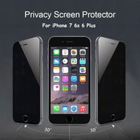 Wholesale Glass Screen Protector Iphone5 - Film For iPhone5 iPhone6 plus iPhone 6 6s 7 Plus Privacy Tempered Glass Screen Protector Anti Peeping