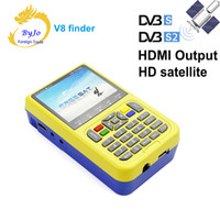 Freesat v8 HDMI Sortie Finder Portable 3.5 pouce LCD Sat Finder DVB-S2 HD Satellite Finder MPEG-4 FTA Numérique Freesat