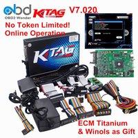 Wholesale Vw Ecu Tuning - Hot Selling Ktag 7.020 SW 2.23 ECU Programmer Tool K tag 7.020 ECU Chip Tuning Add 100+ Protocols Than KTM100 Ktag 7.003