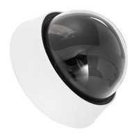 Wholesale Dome Camera Covers - Wholesale- CES-Plastic Security CCTV CCD Dome Shape Camera Housing Cover Black+White