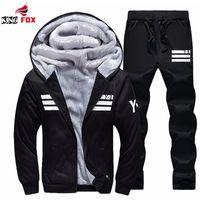 Wholesale Men S Jacket 7xl - Wholesale- New Men's Sporting Suit Outwear Brand men Tracksuits Hoodies and Sweatshirts For Mens Coats Jackets+Pants size 6XL,7XL,8XL,9XL