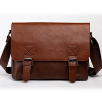 Masculino Classic Retro Leather Messenger Homens Vintage Casual Shopping Cross Body Sobre Ombro Bag Laptop Messenger Pacote Satchel
