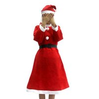 Wholesale Miss Santa Costumes - Women's Santa Baby Costume Quesera Miss Santa Suit Adult Sweetie Christmas Halloween Party Costume Dress Fit for 150-175cm CCA7552 60set
