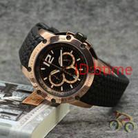 lüks saatler kauçuk kemer toptan satış-Chopo chronograph çalışma lüks yeni siyah kauçuk kemer erkekler gümüş erkek moda kuvars hareketi izle erkek tasarımcı kol saatleri btime