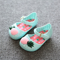Mini Sed Chaussures Nouveau Chaud Chaussures Vente Eté Chaussures Chaussures Enfants Chaussures Sandales Ananas Jelly Baby Kids Sandales