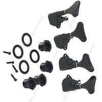 Wholesale Guitar Machine Heads Bass - Wholesale- New Black Guitar Sealed Tuners Tuning Pegs Machine Heads 2R2L For 4 String Bass