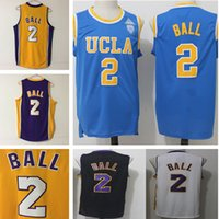Wholesale Ball Dryer - wholesale UCLA College Lonzo Ball Jerseys #0 Russell Westbrook Jersey #2 Lonzo Ball Basketball Jersey All Stitched High quality jersey