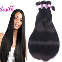 Wholesale Extention Brazilian Human Hair - Unprocessed Indian Virgin Hair Straight 4Pcs Lot 100 Natural Raw Indian Hair Wholesale Indian Straight Human Hair Cheap Weave Extention 8-28