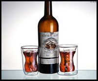 Wholesale Muscle Glass - Skeleton double heat-resistant glass beer, red wine glasses of milk cup tail cup pirates muscle male beauty