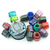 Wholesale Bearings Wholesale - Authentic Demon Killer Magic Epoxy Resin Drip Tips Wide Bore Mouthpiece For 510 528 Cleito TFV8 TFV12 Atomizer
