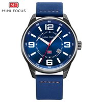 Wholesale New Focus Auto - 2017 Brand Luxury Men Military Sports Watches Men's Quartz Date Clock Male Leather Belt Wrist Watch MINI FOCUS Relogio Masculino