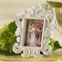 Wholesale Wedding Favor Picture Frames - 12*9cm Black and White Resin Baroque Photo Frame Frames Elegant Place Card Holder or Picture Frame Wedding Favor DHL Free Shipping