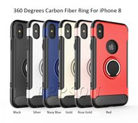 Wholesale I Phone Armbands - For iPhone 8 X 10 8 Plus 7 Note 8 Ring Car Phone Holder Kickstand Case TPU+PC Magnetic Cellphone Cover i Phone 7