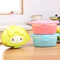 Wholesale 3 Color Cute Doll Pattern Insulated Lunch Box Sealed Portable Cute Cartoon Student Children Portable Bento Box