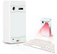 teclado de proyección de iphone al por mayor-50 UNIDS Mini Teclado de Proyección Láser Inalámbrico Portátil Bluetooth Virtual Teclado Láser con Función de Ratón para Android iPhone Tableta Portátil