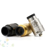 Wholesale Metal Drip Tip Style - Reckless RDA Clone Atomizer GOON Style Post With Delrin Wide Bore Drip Tip And Metal Chuff VAPE Philippines Fit 510 Mod DHL Free