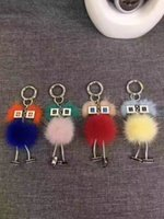 Nuovi Chicks Robot Real Mink Fur Witch Shape Borsa Donna Borsa Monster Fascino Borsa Genuine Pompom Luxury Keychain