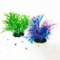 Wholesale Coral Branches - Aquarium Plastic Plant Decorative Colorful Coral Branches Aquarium Water Plants 2 Types Aquarium Decoration In RANDOM Colors