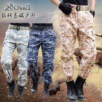 Wholesale Tactical Desert Pant - Wholesale- Summer brand clothing trousers men multi-pocket loose overalls commando tactical desert camouflage pants mens original news