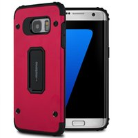 Wholesale Hybrid Cellphone Cases - For Samsung Galaxy S8 Plus S7 edge j3 J5 J7 2017 MOTOMO 2in1 Hybrid Slim Armor Cellphone Case TPU+Metal Without Package