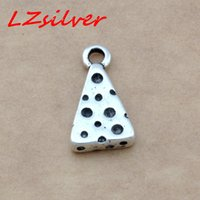 Wholesale diy jewelry online - MIC Ancient silver Cheese Wedge Food Snack Pendants Charms x18mm DIY Jewelry