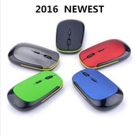 Wholesale Souris Mini - Wholesale- Souris sans fil 2.4GHz USB Receiver ultra thin Slim Mini Wireless Optical Mouse Mice for Laptop PC Optical Gaming Mouse
