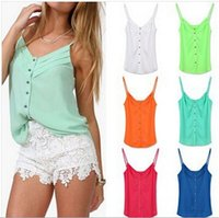 Wholesale loose crop top tanks wholesale - Summer Women New Fashion Loose Chiffon Tank Tops Casual All-Match Crop Tops Camisole camis Vest plus size S-XXXL