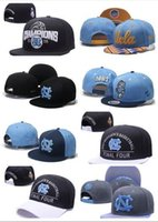 Wholesale Unc Hats - 2017 NEW Men's Basketball Final Four North Carolina Tar Heels Snapback Hat Blue Black UNC Champions Blocking Embroidered UCLA Adjustabl