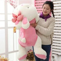 Nouveau Lovely doux 75cm Big Cartoon Lying Rabbit Peluche Toy 30 '' Stuffed Bunny Doll Pillow Girl Present