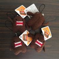 Wholesale Mini Domo Plush - 5Pcs set DOMO KUN Plush toys 5cm mini Phone Charm Pendant dolls Lanyard Bag Key chain domokun funny kawaii keyring Domo-kun toys