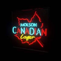 Wholesale Molson Beer - Fashion New Handcraft MOLSON CANADIAN LAGER Real Glass Tubes Beer Bar Display neon sign 19x15!!!Best Offer!