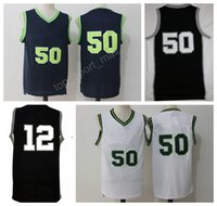 Wholesale Bruce High Quality - High Quality 50 David Robinson Jersey Throwback Midshipmen College Basketball 12 Bruce Bowen Jerseys Black Blue White with player name