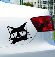 Wholesale Cheap Wholesale Printers - Motorcycle Free shipping Cheap sticker paper for printer Car black peep A cat scratch car decoration stickers Meow meow stickers
