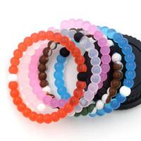 Wholesale Cards European Charm - Transparent balance bracelets 46 color 4 size S   M   L   XL 50pcs DHL free With paper card and OPP bag