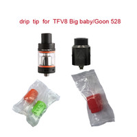 Wholesale Mouth Testers - TFV8 Silicone Tips TFV12 Mouthpiece Silicon Drip Tip Disposable wide bore drip tips Silicone Rubber Tester Testing tips for Big Mouth Tank