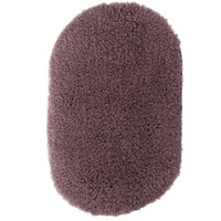 Wholesale Oval Carpets - Wholesale- New Soft Fluffy Bedroom Non-Slip Door Floor Mat Carpet Rugs Oval Water Absorption Doormat Bath Shower Mats Home Decor 31x51cm