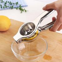 kunststoff-gemüseformen groihandel-Edelstahl Presse Zitrone Limette Orange Entsafter Citrus Entsafter Entsafter Küche Bar Food Processor Gadget Küche