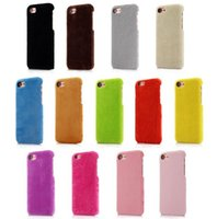 Wholesale Mobile Phone Shell Material - Winter DIY Plush Hard PC Case for iphone6 iphone 7 iphone7 plus shell cover case mobile phone shell material