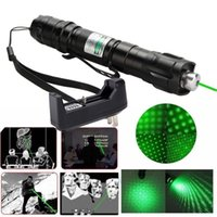 Wholesale Laser Belts - 10Mile Military 2in1 Green Laser Pointer Pen Star Cap Belt Clip Astronomy 5mw 532nm Powerful Cat Toy+18650 Battery+Charger