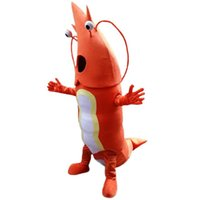 Wholesale Lobster Costume Adult - Sea red lobster mascot costume adult size high quality EPE materials plush cloth clothing customization free shipping