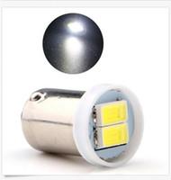 led kuyruk ışıkları fiyat toptan satış-Toptan Ba9s 1895 57 T4W 182 1445 Beyaz 5730 2 SMD LED Araç Yan Kuyruk Ampul 12 V toptan fiyat
