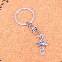 Wholesale Metal Cross Key Chain - Fashionice cross Keychain For Men Trinket Portachiavi Car Keyring Key Chain Ring Chaveiro Jewelry Gift Souvenirs