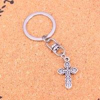 Wholesale Wholesale Metal Trinket - Fashionice cross Keychain For Men Trinket Portachiavi Car Keyring Key Chain Ring Chaveiro Jewelry Gift Souvenirs