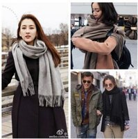 Wholesale Women s Plain Scarf Cozy Oversized Tartan Tassel Scarf Fashion Wrap Grid Shawl Check Pashmina Cashmere Lattice Neck Stole Blanket Thick