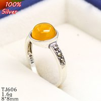 100% 925 Sterling-silver-jewelry Ajuste ajustable del anillo en blanco con 8MM Setting Round Stone