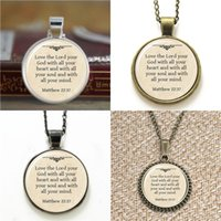 Wholesale love god necklace for sale - Group buy 10pcs Love the Lord your God with all your heart and with all your soul Necklace keyring bookmark cufflink earring bracelet