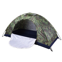 Wholesale Two Person Camping Tent - One To Two Person Outdoor Camping Camouflage Tents For Hiking Trekking Backpacking Fishing Waterproof Anti Mosquito Wholesale