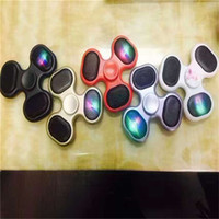 Wholesale Mp3 Set - LED Bluetooth MP3 Audio Player Fidget Hand Spinner Support Micro SD TF Card Music Speaker fidget spinner For ADD ADHD Autism